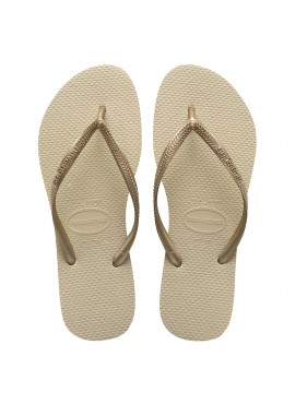 HAVAIANAS SLIM sand grey / light golden