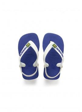 HAVAIANAS BABY BRASIL LOGO Marine blue